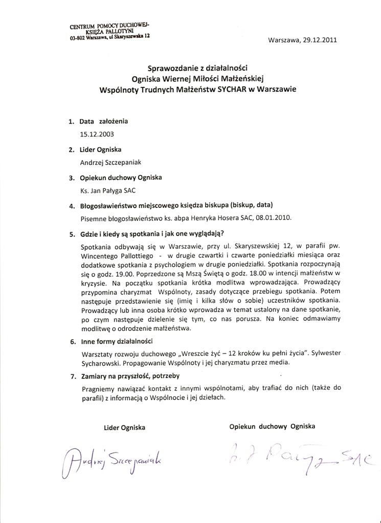 Sprawozdanie-2011-Warszawa-Pallotyni