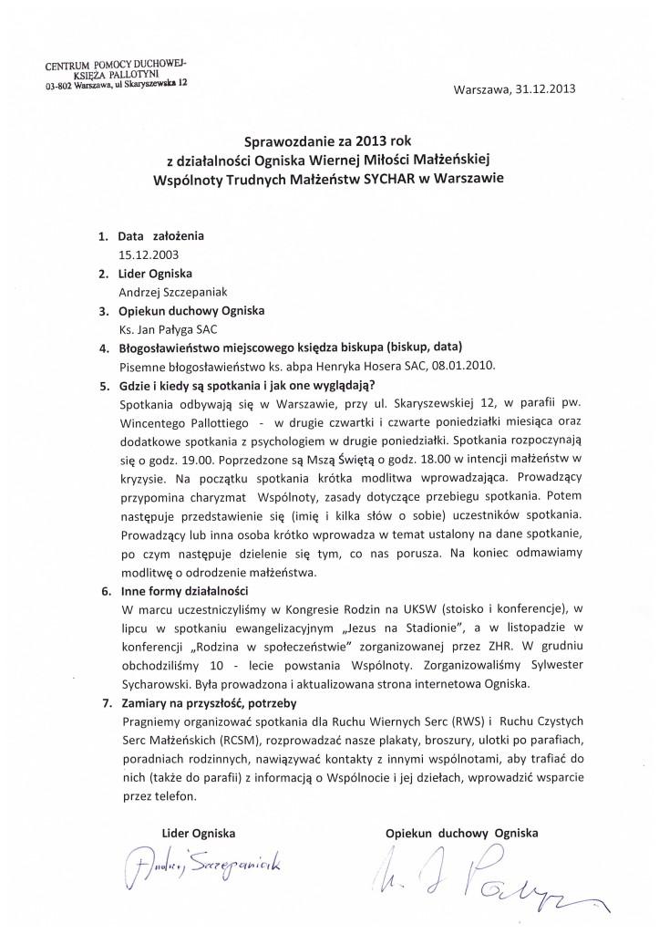 Sprawozdanie-2013-Warszawa-Pallotyni