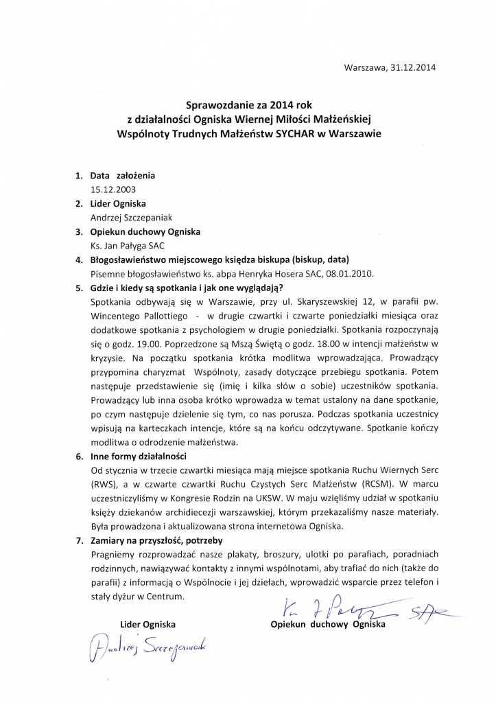Sprawozdanie-2014-Warszawa-Pallotyni